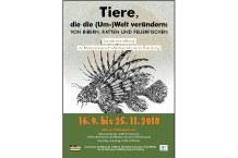 """Plakat """"Tiere, die die (Um-)Welt verändern: Von Bibern, Ratten und Feuerfischen"""""""