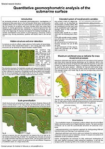 Poster 5: Quantitative geomorphometric analysis of the submarine surface
