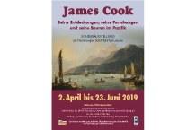 """Plakat """"James Cook: Seine Entdeckungen, seine Forschungen und seine Spuren im Pazifik"""""""