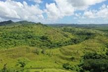 Terrassierte Landschaft in Ngeremlengui