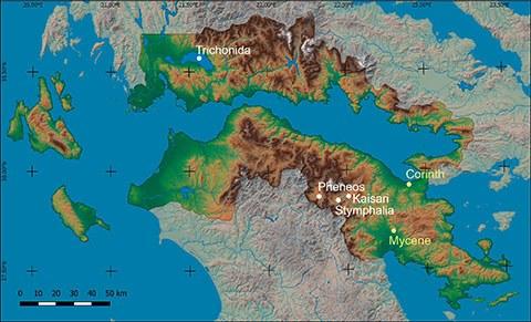 Arbeitsgebiet des E1-Projekts (Karte: Kessler)