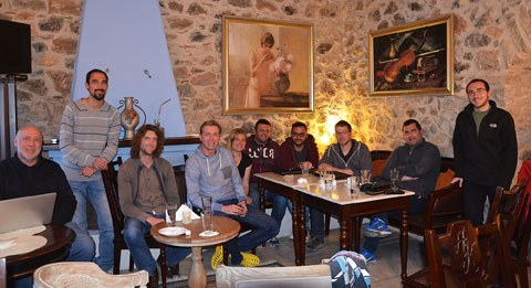 The research group together with colleagues of the Peloponnese-Project