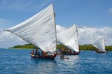 02_Outrigger canoes off Ifelik, Micronesia_218