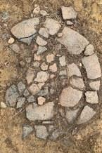 20_Flattened ceramic vessel in situ_218
