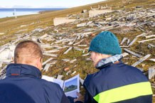 There are still many visible traces of former settlements on Spitsbergen